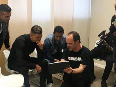 Neymar in Turin to shoot with Cristiano Ronaldo